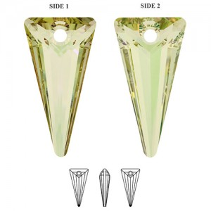 Swarovski 6480 Spike Crystal Luminous Green 18x10mm - 1τεμ