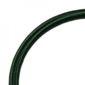 Κορδόνι Silk Ribbon on Plastic Tube Ø5mm - Green - 45cm - 2τεμ