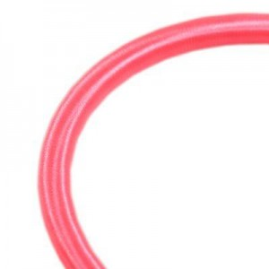 Κορδόνι Silk Ribbon on Plastic Tube Ø5mm - Pink - 45cm - 2τεμ