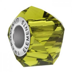 Swarovski 5928 BeCharmed Helix Olivine 14x10mm - 1τεμ