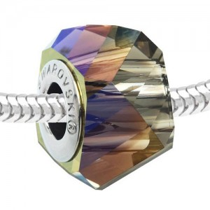 Swarovski 5928 BeCharmed Helix Crystal Iridescnt Green 14x10mm - 1τεμ