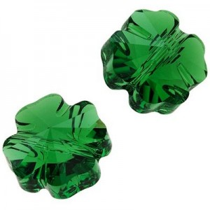 Swarovski 5752 Clover Dark Moss Green 8x6mm - 3τεμ