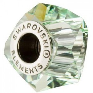 Swarovski 5928 BeCharmed Helix Chrysolite 14x10mm - 1τεμ