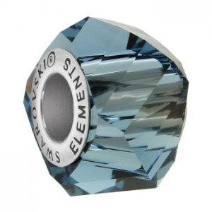 Swarovski 5928 BeCharmed Helix Denim Blue 14x10mm - 1τεμ