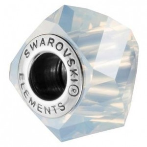 Swarovski 5928 BeCharmed Helix White Opal 14x10mm - 1τεμ