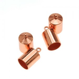 One 11.2x6.2mm Copper Plated Magnetic Cord Clasp