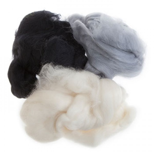Μαλλί Felt Merinos - Black-White Assorted - 50gr