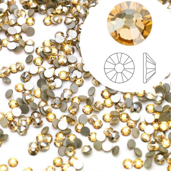 Swarovski 2058 GlueFix XILION Crystal Golden Shadow SS5 Ø1.7x0.75mm - Συσκευασία Χονδρικής - 1440τεμ