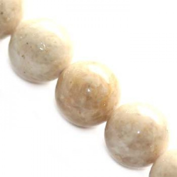 Marble Dyed Round Λευκό Ø8mm ~50τεμ