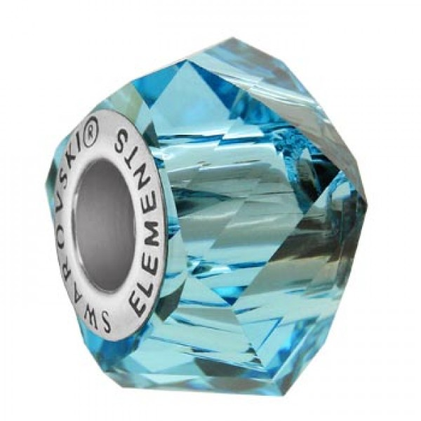Swarovski 5928 BeCharmed Helix Aquamarine 14x10mm - 1τεμ