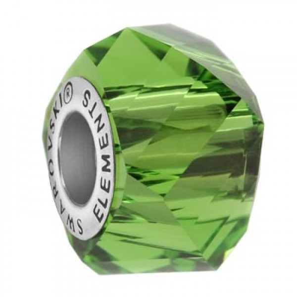 Swarovski 5928 BeCharmed Helix Fern Green 14x10mm - 1τεμ