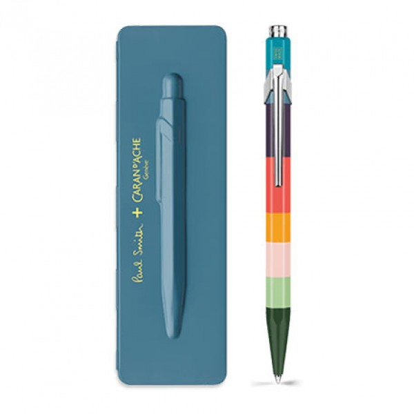 Caran d'Ache Μπλε Στυλό Διαρκείας 849 PAUL SMITH with etui Petrol Blue - Limited Edition