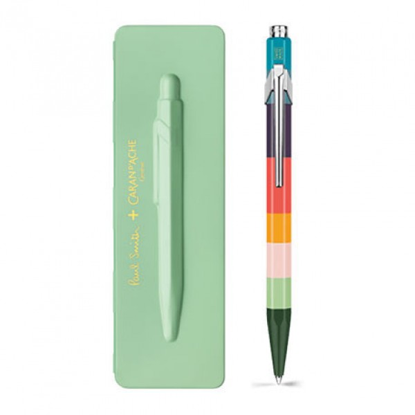 Caran d'Ache Μπλε Στυλό Διαρκείας 849 PAUL SMITH with etui Pistachio Green - Limited Edition