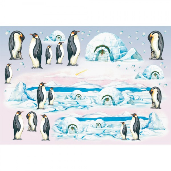 Ριζόχαρτο Stamperia - Penguins - 48x33cm