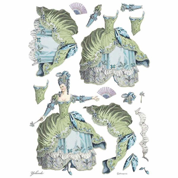 Stamperia Ριζόχαρτο για Decoupage - Lady Green - A3