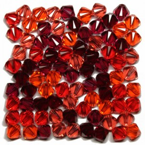 Swarovski 5328 XILION Bicone Red Tones Mix1 6mm - 20τεμ