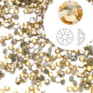 Swarovski 2058 GlueFix XILION Crystal Golden Shadow SS5 Ø1.7x0.75mm ~72τεμ