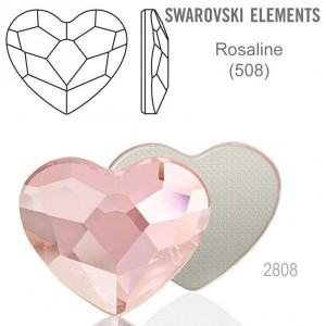 Swarovski 2808 Heart Rosaline 10mm - 2τεμ
