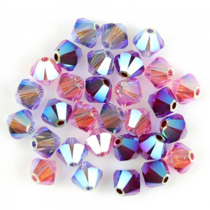 Swarovski 5328 XILION Bicone Luxury Mix No1 AB2X 4mm - 30τεμ