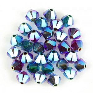 Swarovski 5328 XILION Bicone Luxury Mix No2 AB2X 4mm - 30τεμ