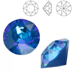 Swarovski 1088 Xirius Chaton Crystal Royal Blue DeLite SS39 Ø8.29x5.1mm - 12τεμ