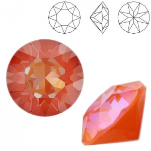 Swarovski 1088 Xirius Chaton Crystal Orange Glow DeLite SS39 Ø8.29x5.1mm - 12τεμ