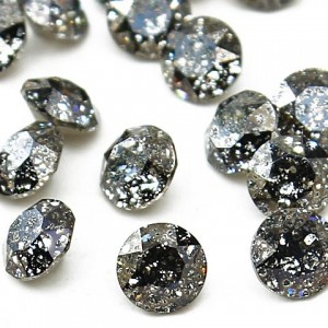 Swarovski 1088 Xirius Chaton Black Patina PP24 Ø3.1x1.7mm ~72τεμ