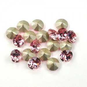 Swarovski 1088 Xirius Chaton Light Rose PP24 Ø3.1x1.7mm ~72τεμ