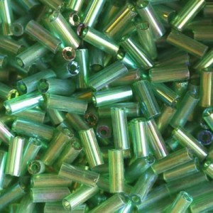 Χάντρα Glass Tubes Rainbow Lime Green Mix 4.5mm - 20gr
