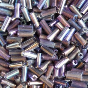 Χάντρα Glass Tubes Rainbow Purple Mix 4.5mm - 20gr