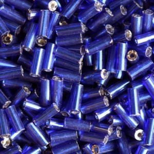 Χάντρα Glass Tubes Silver Lined Midnight Blue 4.5mm - 20gr
