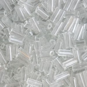 Χάντρα Glass Tubes Clear Transparent 4.5mm - 20gr