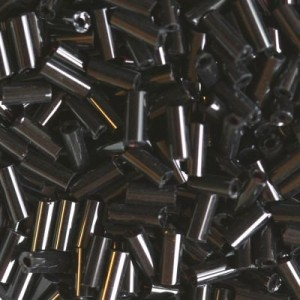 Χάντρα Glass Tubes Opaque Black Night 4.5mm - 20gr