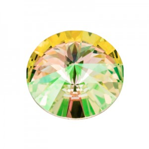 Swarovski 1122 Rivoli Crystal Luminous Green Ø12mm - 4τεμ