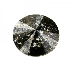 Swarovski 1122 Rivoli Crystal Black Patina Ø12mm - 4τεμ