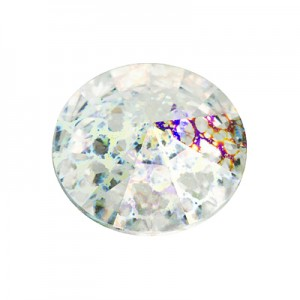 Swarovski 1122 Rivoli Crystal White Patina Ø12mm - 4τεμ