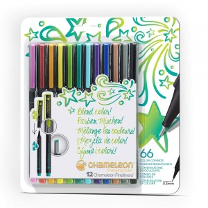 Σετ Chameleon™ Fineliners - Bright Colors - 12τεμ