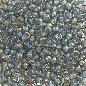 Toho® Χάντρα Round 8/0 - Transparent Black Diamond AB 176 ~10gr