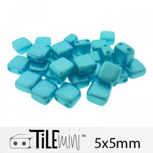 Χάντρα Czech Mini Tile™ - Pastel Aqua 5x5mm ~30τεμ