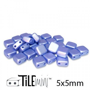 Χάντρα Czech Mini Tile™ - Light Blue Airy Pearl 5x5mm ~30τεμ