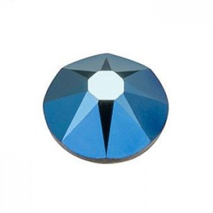 Swarovski 2088 GlueFix XIRIUS Crystal Metallic Blue SS30 Ø6.4x3mm ~24τεμ