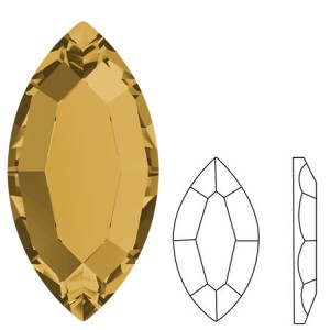 Swarovski 2200 Navette Light Colorado Topaz 8x4mm - 4τεμ