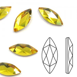 Swarovski 2201 Marquise Sunflower 8x3.5mm - 12τεμ