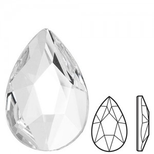 Swarovski 2303 Pear Flat Back 8x5mm Crystal - 4τεμ