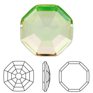 Swarovski 2611 Solaris Crystal Luminous Green 10mm - 2τεμ