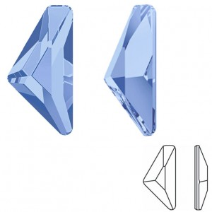 Swarovski 2739 Triangle Alpha GlueFix 10x5mm Light Sapphire - 6τεμ