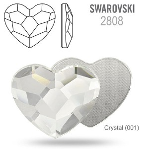 Swarovski 2808 Heart Crystal 10mm - 2τεμ
