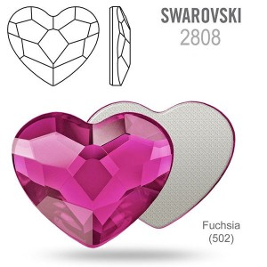 Swarovski 2808 Heart Fuchsia 14mm - 2τεμ