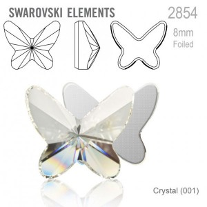 Swarovski 2854 Butterfly Crystal 12x10mm - 2τεμ