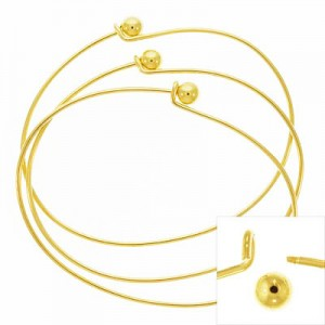 Μπρασελέ Add a Bead 70x53x1.5mm - Gold Plated - 2τεμ